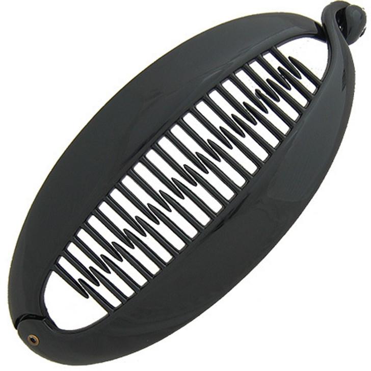 Large Oval Fish Clip Hair Holder Black