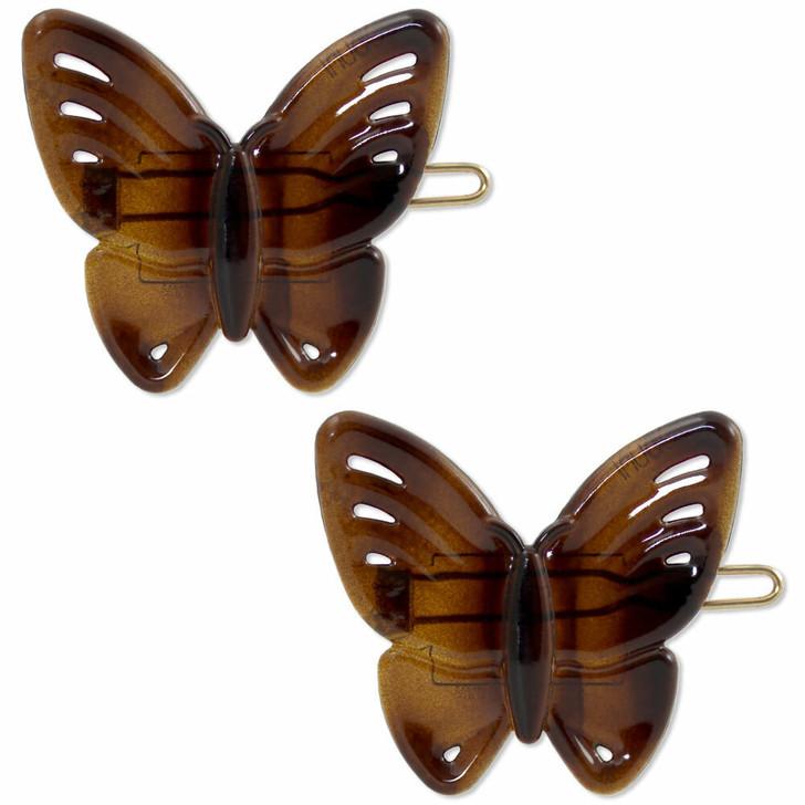 "The Papillon ""Butterfly"" Hair Clip (Front) Tortoiseshell"