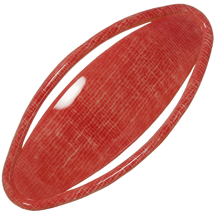 Oval Agami Red Hair Barrette