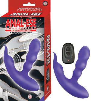 ANAL ESE COLLECTION REMOTE CONTROL P-SPOT STIMULATOR-PURPLE