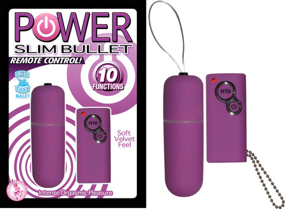 POWER SLIM BULLET REMOTE CONTROL – PURPLE