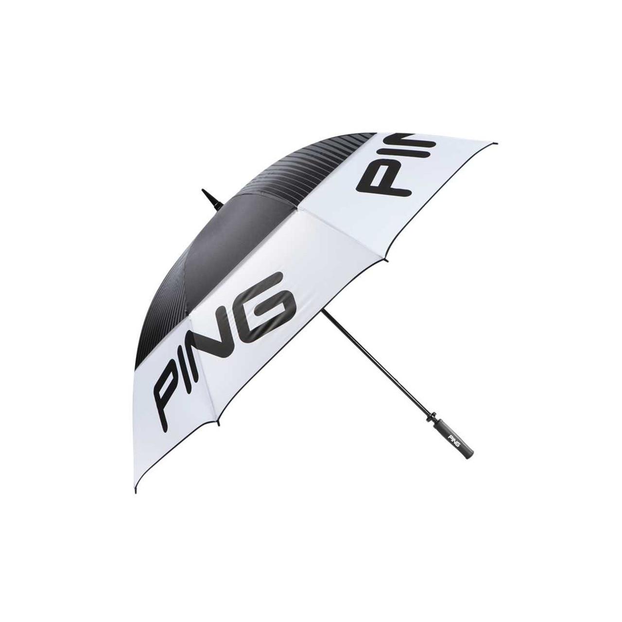 Ping 68 Quot Tour Golf Umbrella White Black Grey Golfland