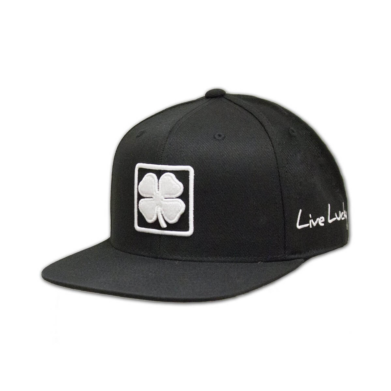 Black Clover Lucky Square Flat Brim Adjustable Hat