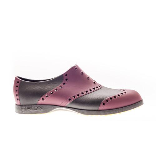 Biion Wingtip Unisex Golf Shoes - Crimson Red/Black