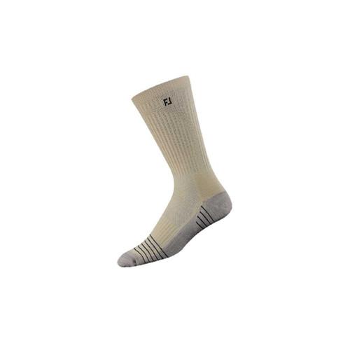 FootJoy TechSof Tour Men's Crew Sock - Shoe Size 7-12 - Driftwood