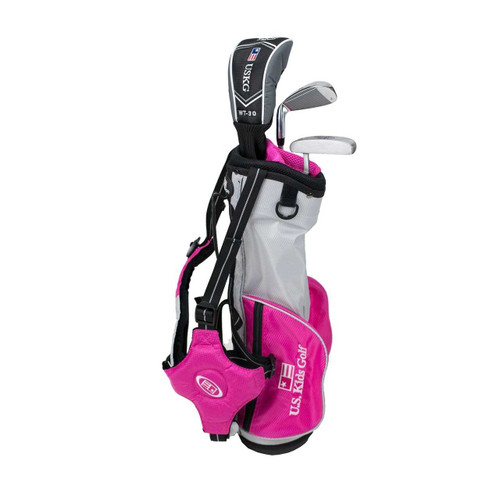 "US Kids 2016 Ultralight 3-Club Carry Bag Set - RH - 39"" Pink"
