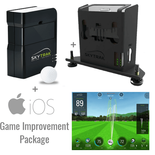SkyTrak Golf Launch Monitor + Metal Case + Game Improvement Package