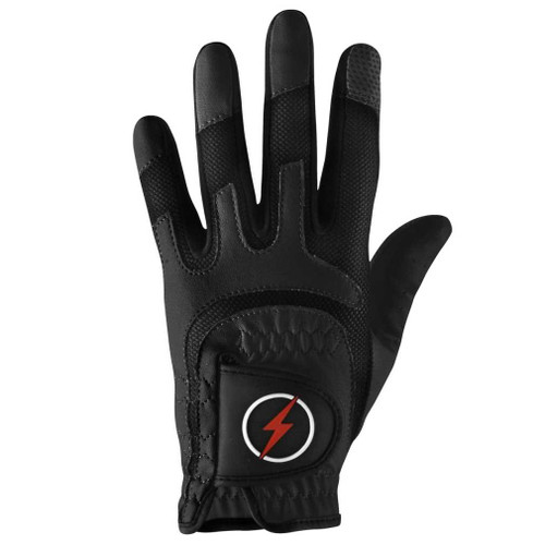 PowerBilt Men's One-Fit Golf Glove - Black
