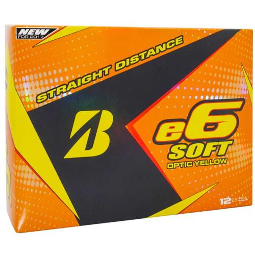 Bridgestone 2017 e6 Soft Golf Balls - 1 Dozen - Yellow