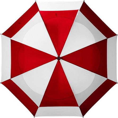 "Bag Boy 62"" Telescopic Wind Vent Umbrella - Red/White"
