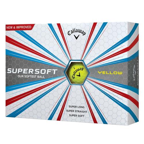 Callaway 2017 Supersoft Golf Balls - 1 Dozen - Yellow