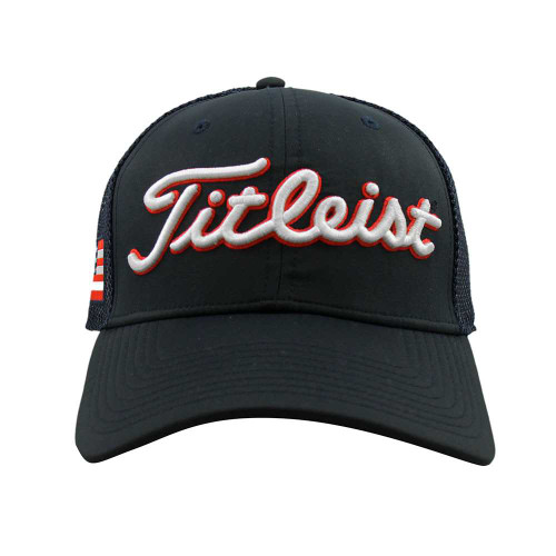 fad5fe08a ... Titleist Tour Performance USA Flag Adjustable Golf Hat - Navy - Front  ...