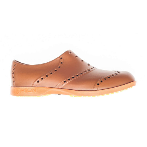 Biion Oxford Bright Unisex Golf Shoes - Brown/Bright Orange