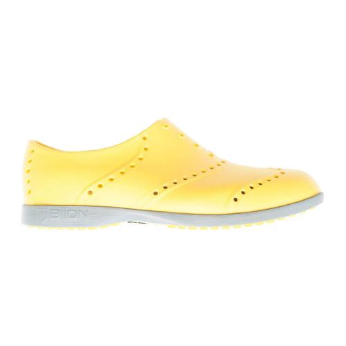 Biion Oxford Bright Unisex Golf Shoes - Mustard/Grey