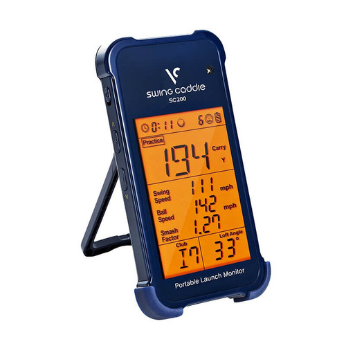 Voice Caddie SC200 Swing Caddie Portable Golf Launch Monitor with Audio Output