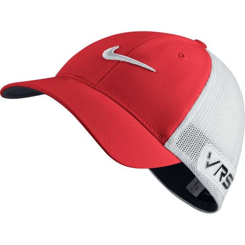 Nike GOLF TOUR FLEX-FIT CAP new logo LEGION RED/WHITE//BLACK S/M - Lt Crimson/White