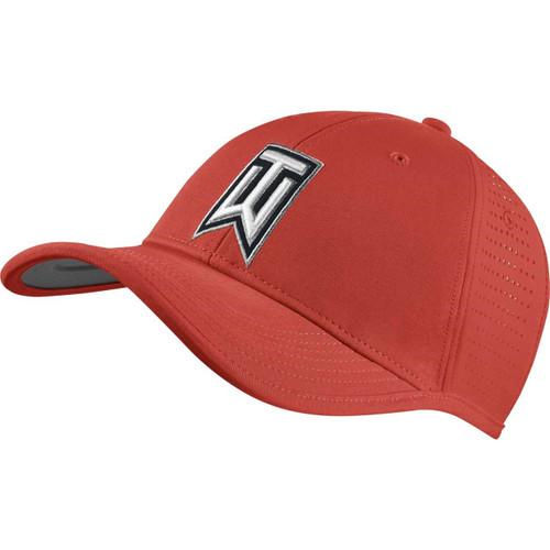 41b73b6fba0 Nike GOLF TOUR FLEX-FIT CAP new logo LEGION RED WHITE  BLACK S M ...