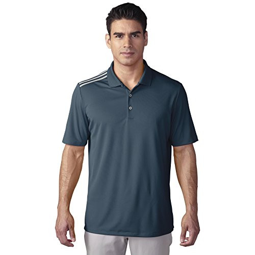 adidas Golf ClimaCool 3-Stripes Polo Shirt - Mineral Blue