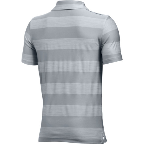 48c6fdbc ... Under Armour Boys' Composite Stripe Polo - Overcast Gray/Stealth Gray