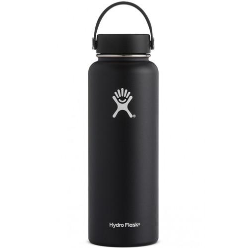 Hydro Flask 40 oz Wide Mouth Insulated Bottle w/ Flex Cap - Black