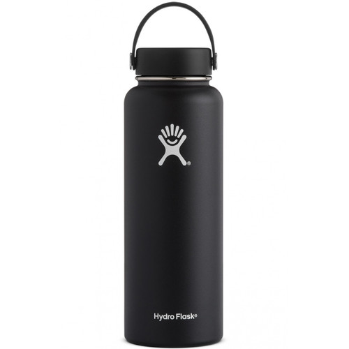 Hydro Flask 40 oz Wide Mouth Insulated Bottle w/ Flex Cap - Black