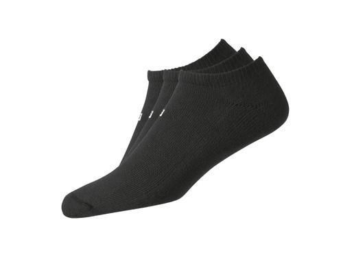FootJoy ComfortSof Men's Low Cut Socks (3 Pair) Black (7-12)