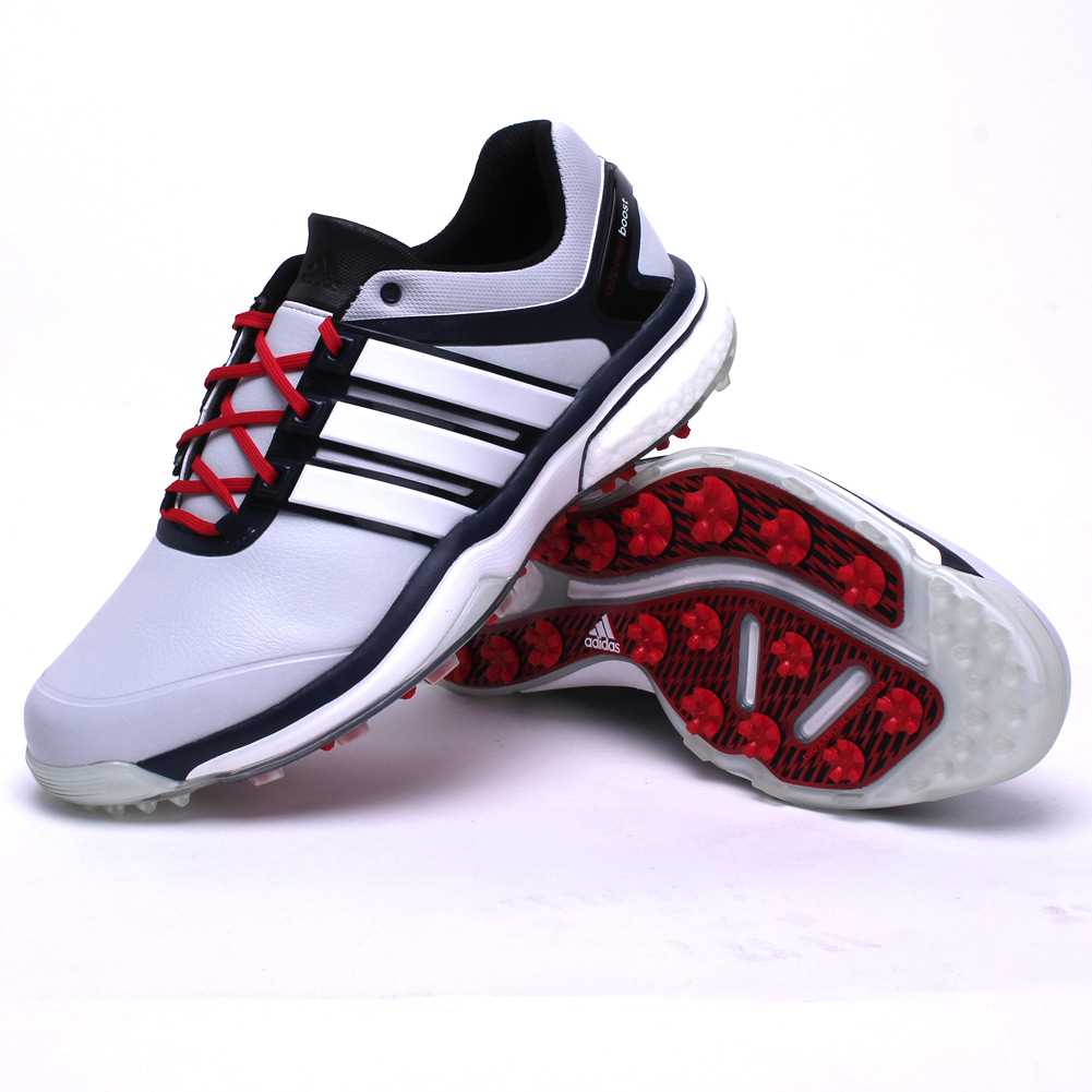 c46a0b3accf adidas Golf CLOSEOUT adipower Boost Men s Golf Shoes - Grey Navy Red