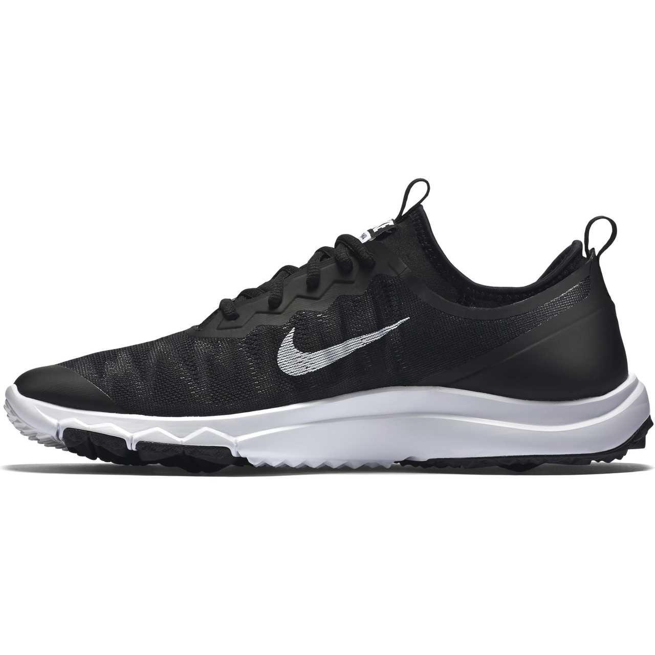 fbd46d32d2b4 Nike FI Bermuda Women s Spikeless Golf Shoe - Black White - Golfland ...