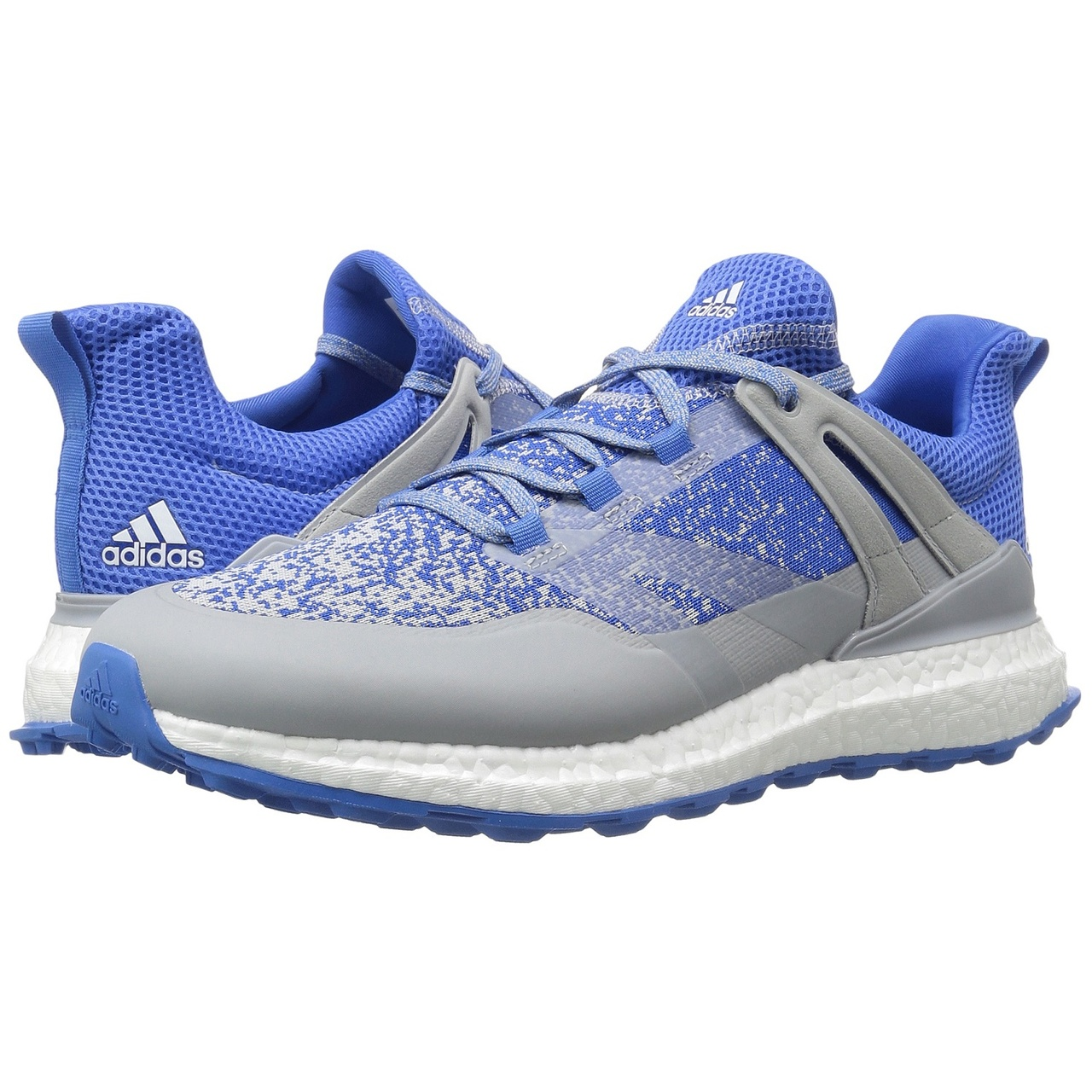 finest selection c227d 64888 adidas Crossknit Boost Mens Spikeless Golf Shoes - OnixBlast BlueWhite