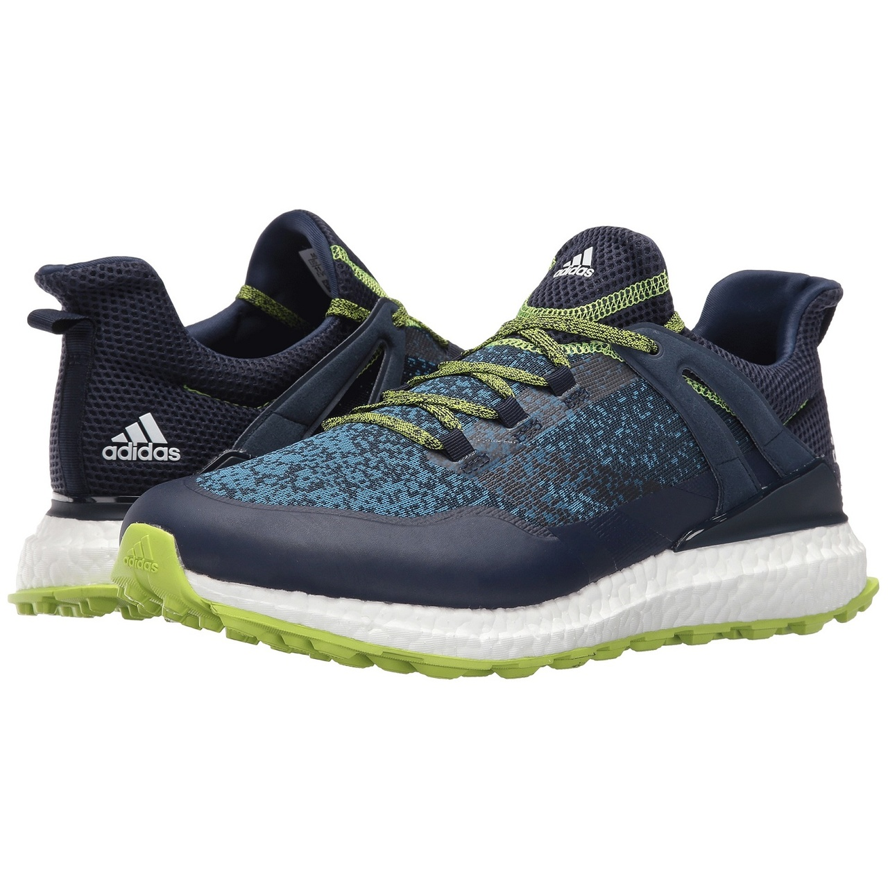 new arrival 5a5fb 74be1 adidas Crossknit Boost Mens Spikeless Golf Shoes - Collegiate NavySolar  SlimeWhite