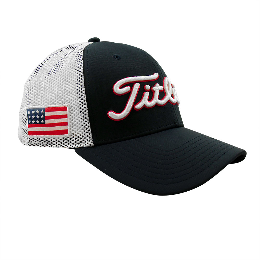 fa676fa826a Titleist Tour Performance USA Flag Adjustable Golf Hat - Navy White ...