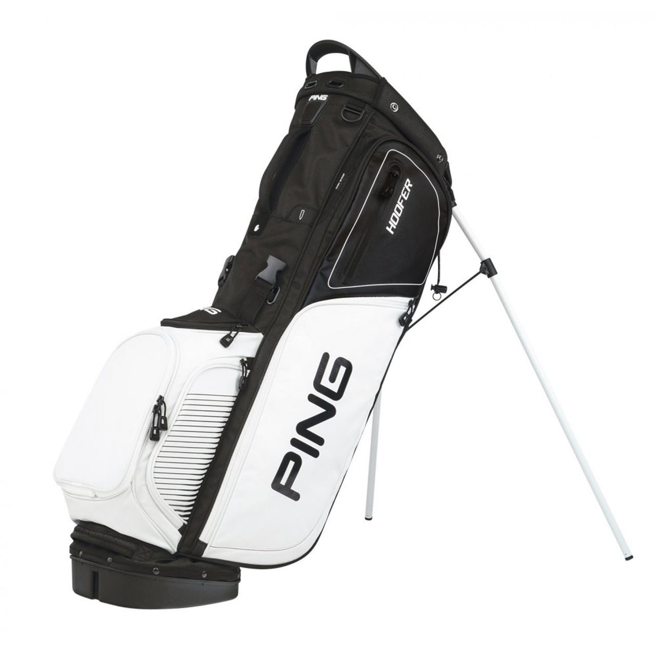 70c2d45b3ef7 PING Hoofer Golf Stand Bag - Black White