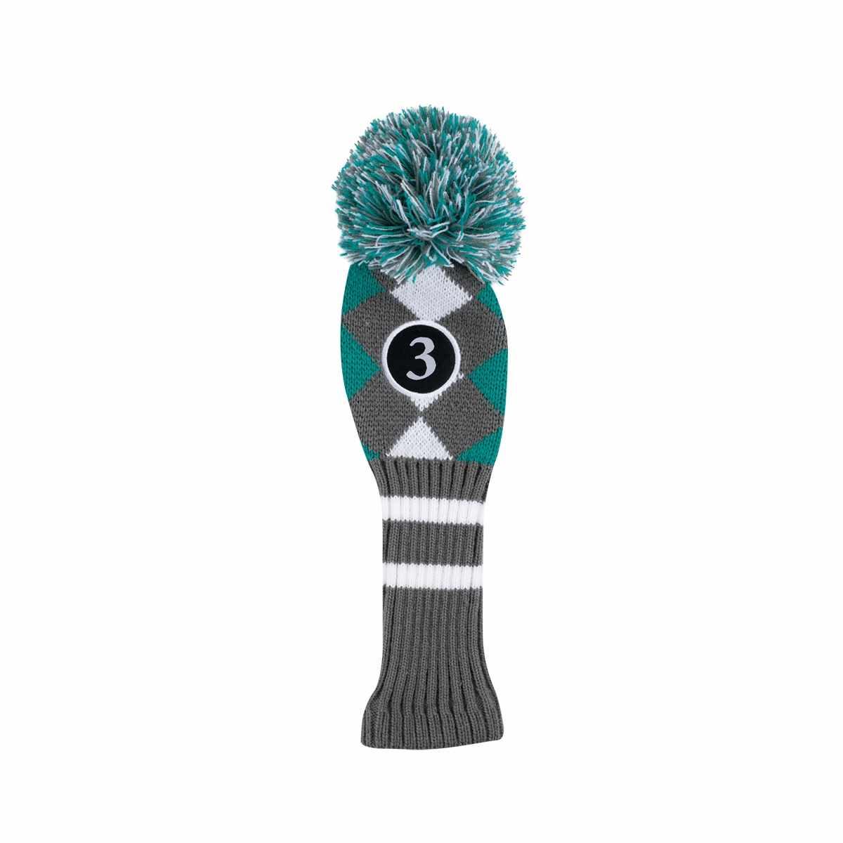 Callaway Golf Pom-Pom Headcover ( 3) Charcoal Teal White - Golfland ... dd82ecd72e71