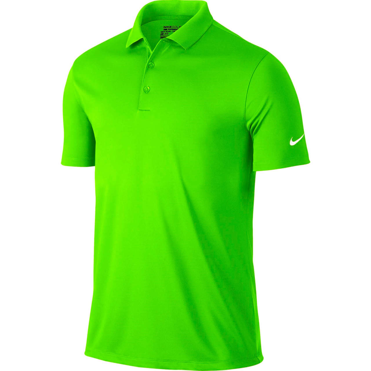 be7b96075070d Nike Golf Men's Victory Solid Polo - Green Strike/White