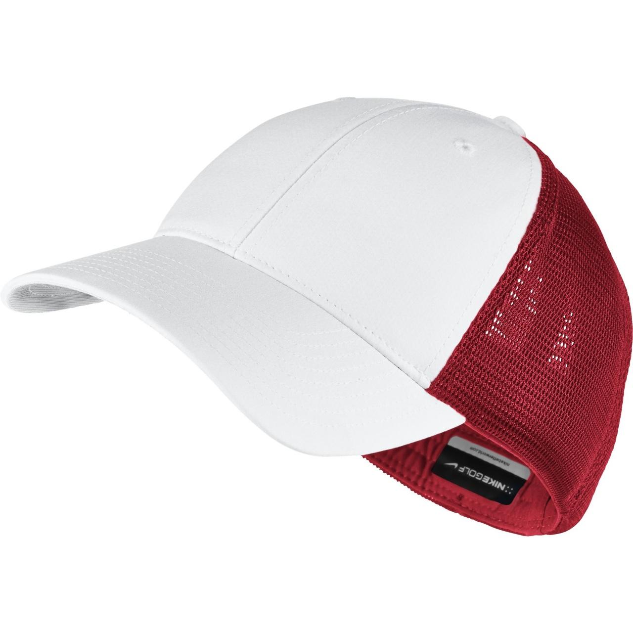 6f338fa9efc Nike Golf CLOSEOUT Legacy 91 Mesh Custom Hat (University Red White) 727038-