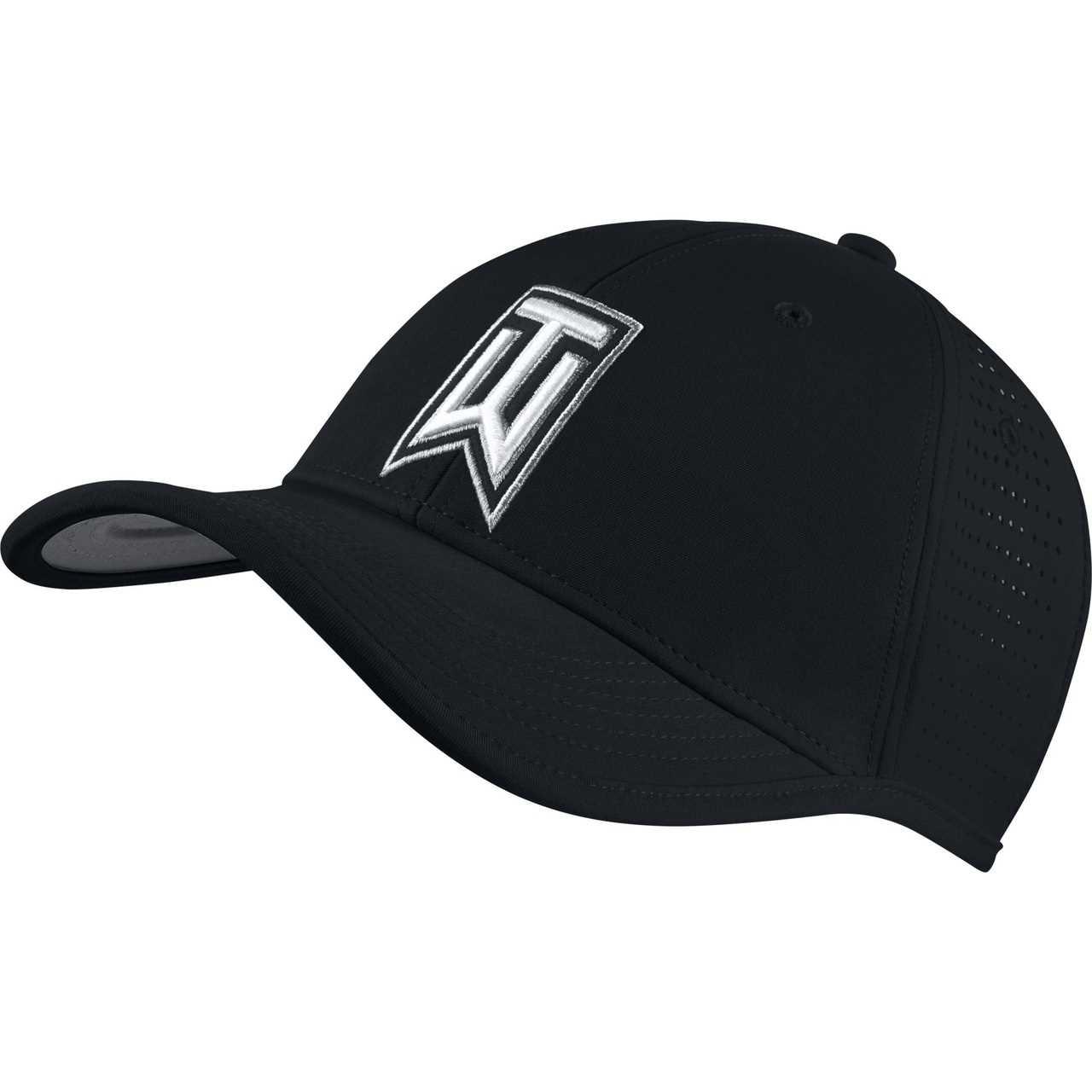 2883172e00599 Nike Golf TW Ultralight Tour Adjustable Hat - Black White