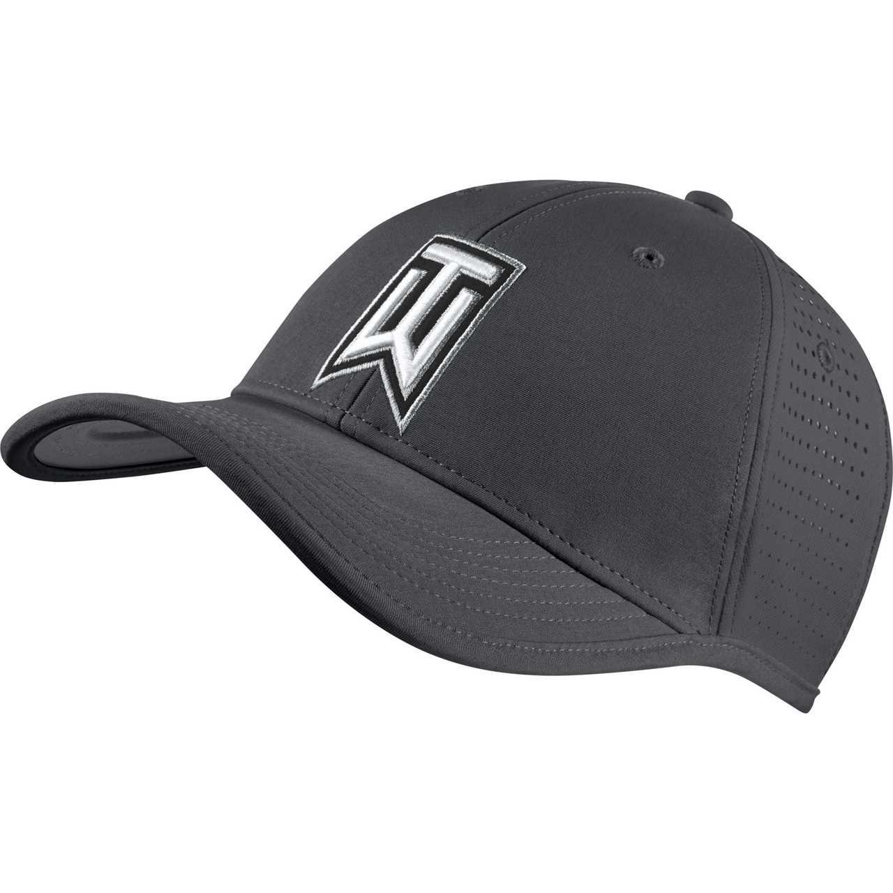 32b8e37a944 Nike Golf TW Ultralight Tour Adjustable Hat (Black White) - Dark ...
