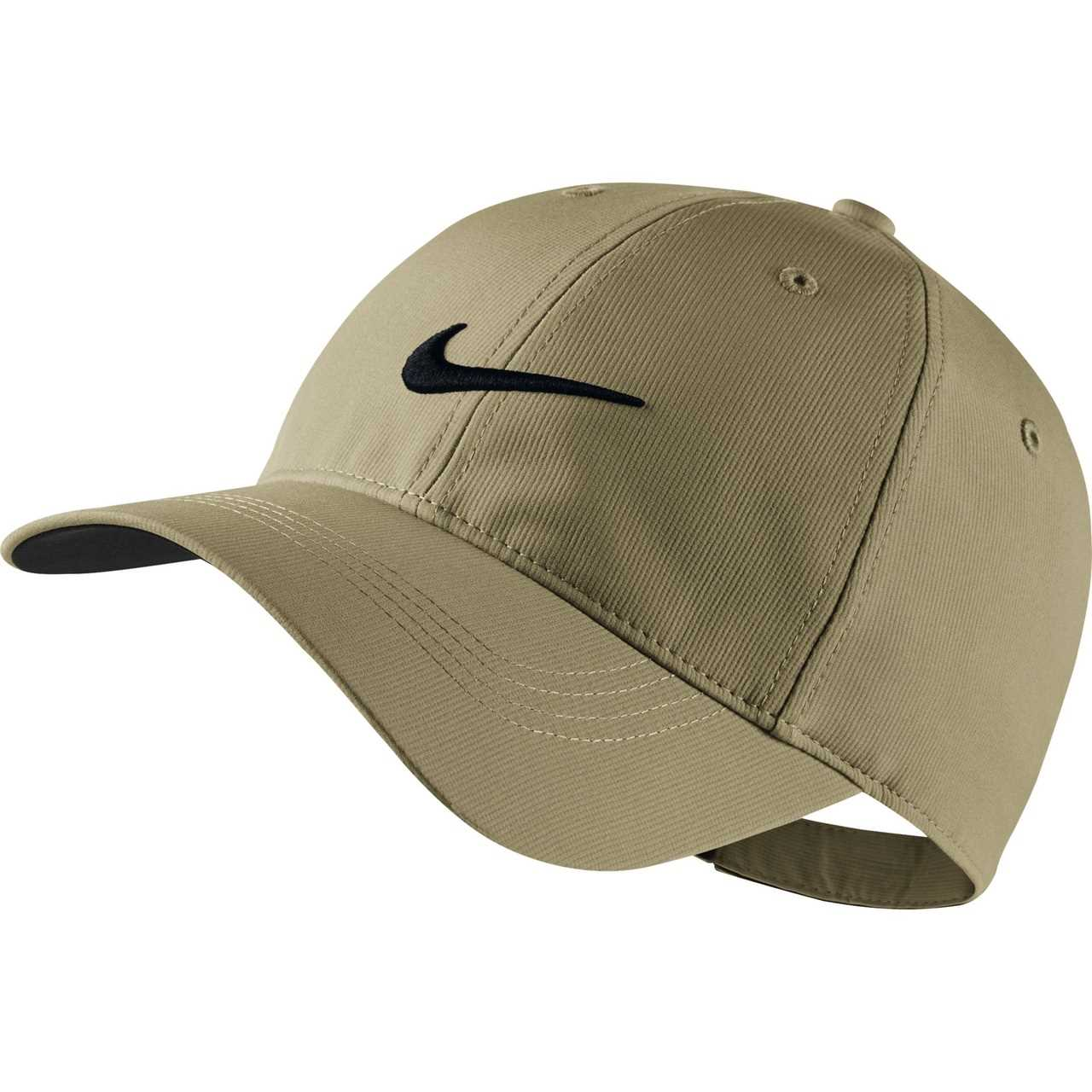 3912ce14736 Nike Golf Legacy 91 Tech Adjustable Hat (Dark Grey White) - Khaki Black