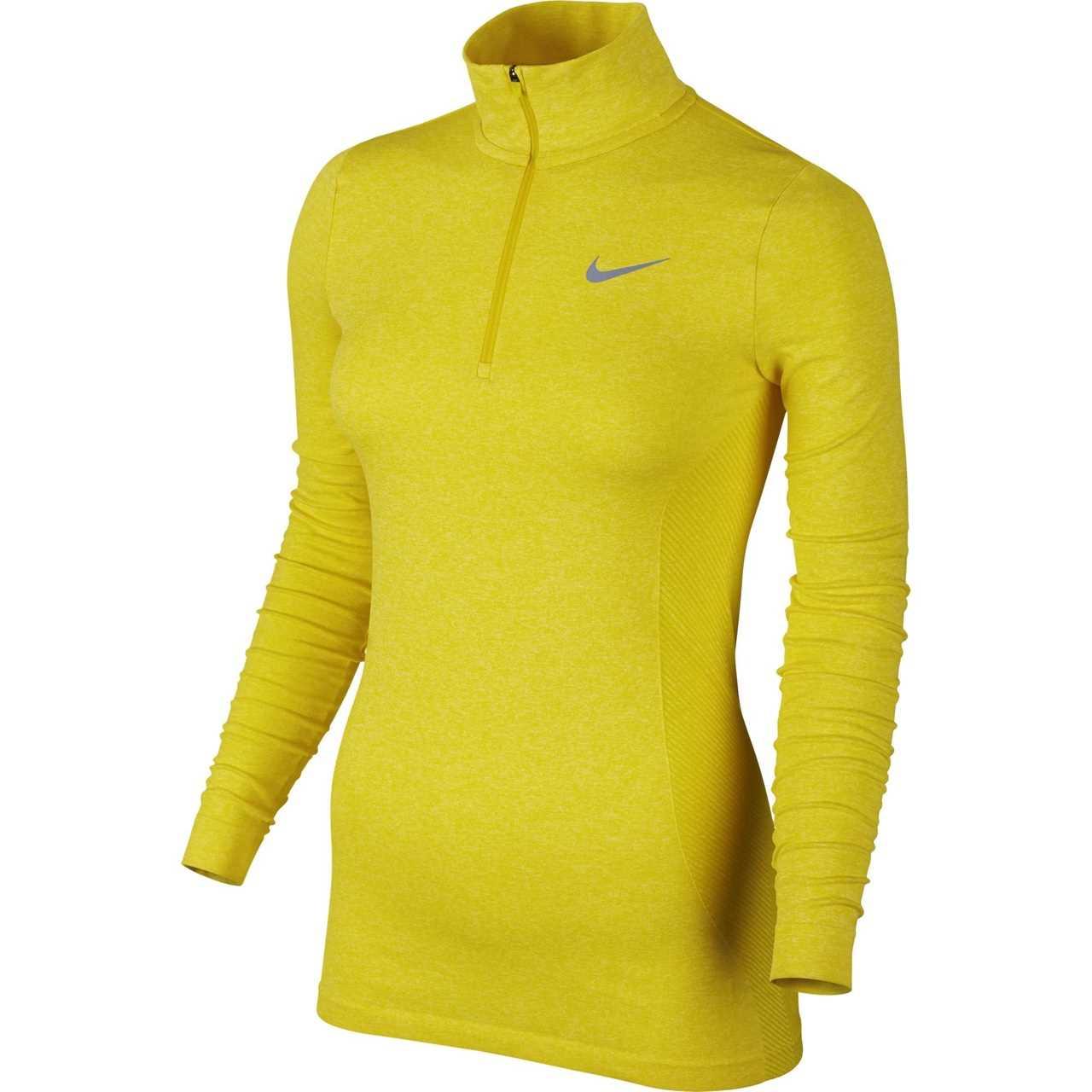 03783490735c Nike Golf Women s Dri-FIT Knit 1 2 Zip Top (Light Crimson) XS - Optic Yellow