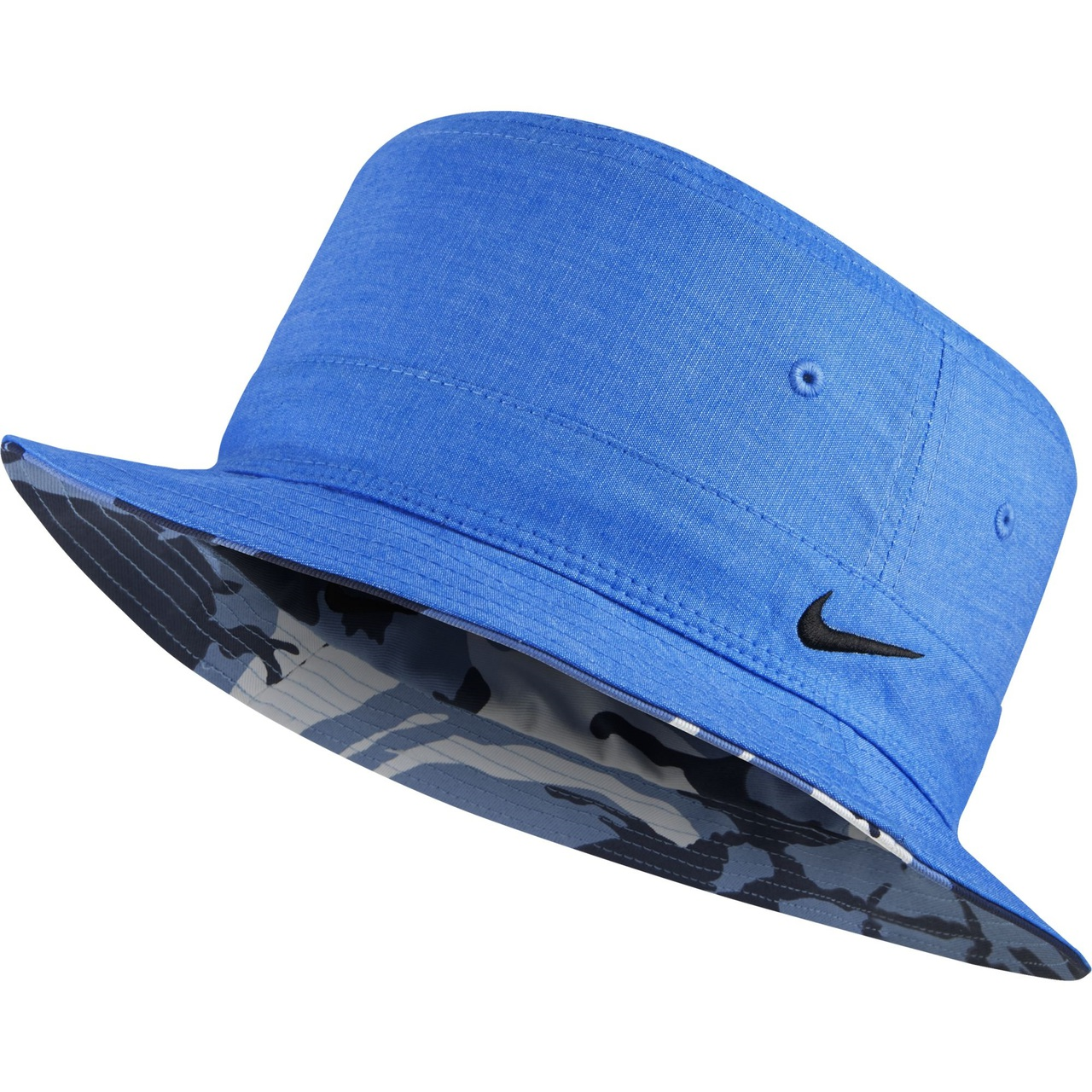 9930ca50ca5 Nike Golf Ox Reversible Bucket Hat (Black Wolf Grey) S M - Photo Blue Black