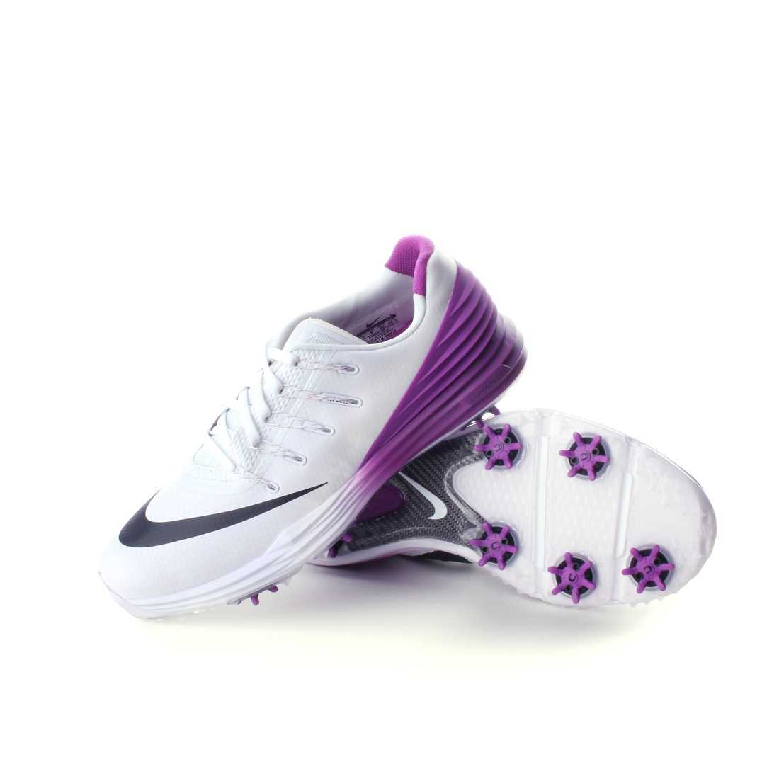 best sneakers 244da 840be Nike Lunar Control 4 Women s Golf Shoe White Cosmic Purple