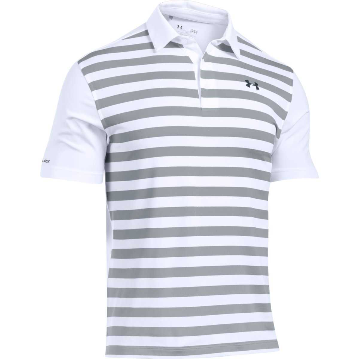 e91af038 Under Armour Men's Coldblack Tempo Polo - White/Overcast Gray