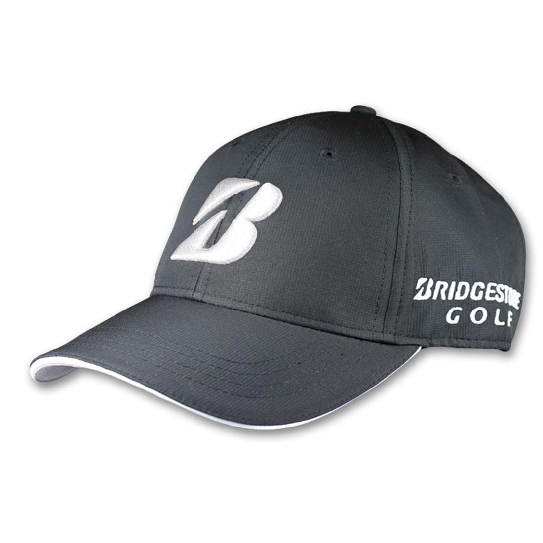 8c361ef2632b2 Bridgestone Golf Contrast Stitch Performance Cap - Black