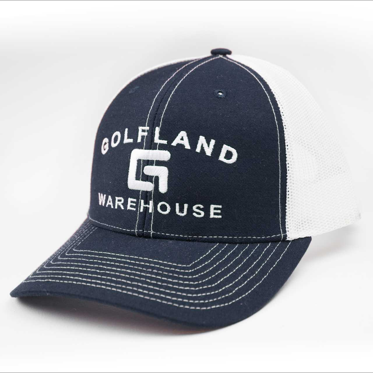 96b891ba Golfland Warehouse G1 Pacific Fitted Trucker Hat - Navy/White