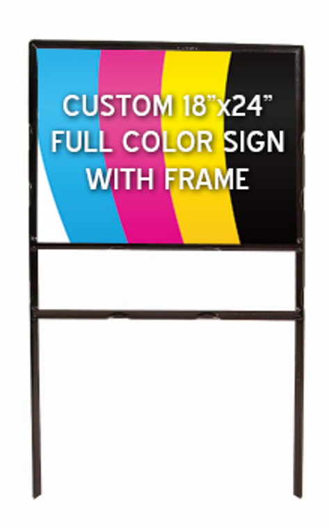18x24 metal sign frame with graphic insert