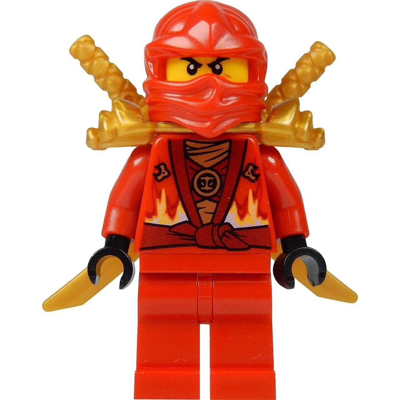 lego® ninjago kai minifig red ninja with two gold