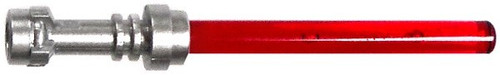 LEGO® Star Wars - Trans-Red Lightsaber (Metallic Silver Hilt)