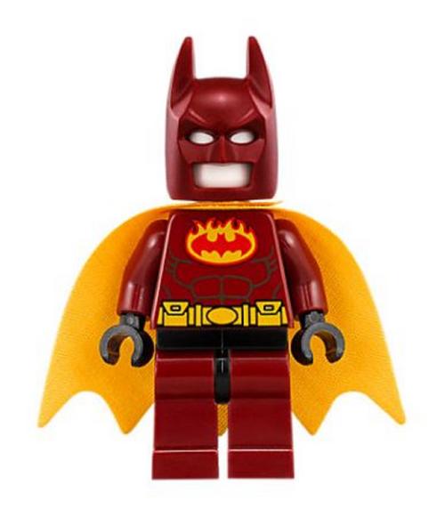 LEGO® Superheroes™ Firestarter Batman from 70923 (Cape replaced with Batgirl Cape)