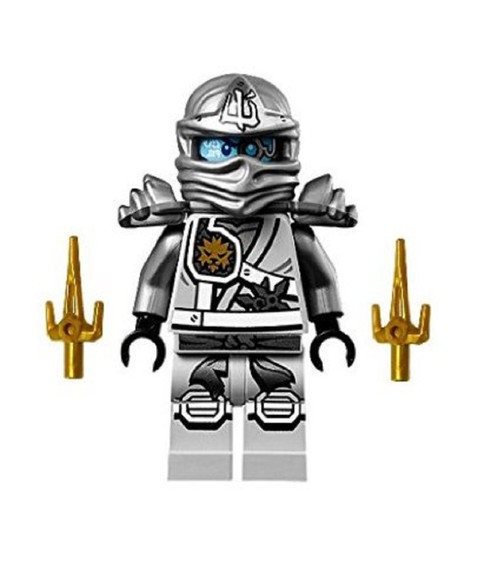 LEGO® Ninjago™ Minifigure - Zane Titanium Ninja with Gold Sai weapons (70748)