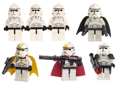 LEGO Star Wars: Clone Trooper Special Ops Army - 7 Clones